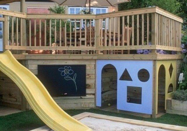 Awesome Deck Play Area Kids Pinterest