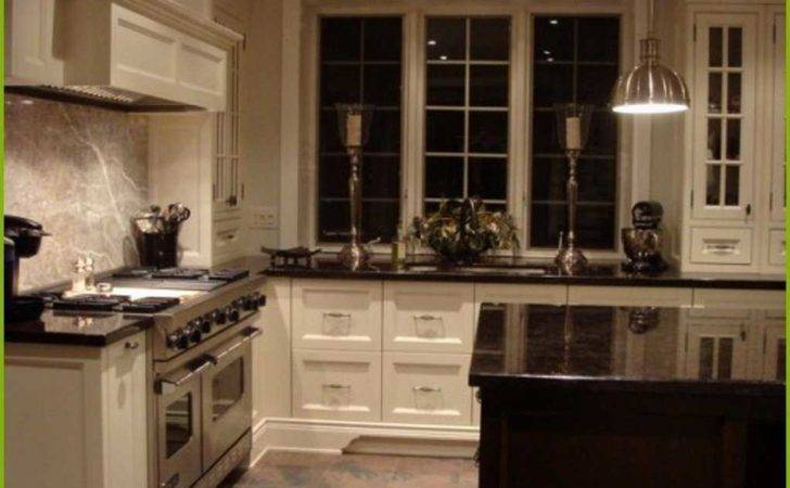 Awesome Off White Kitchen Cabinets Black Countertops