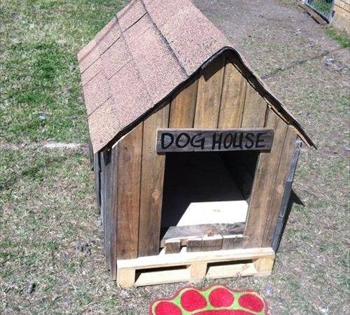 Awesome Pallet Dog House Plans Diy