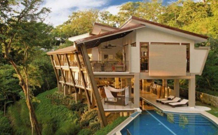 Awesome Tropical House Vacation Costa Rica Jungle Digsdigs