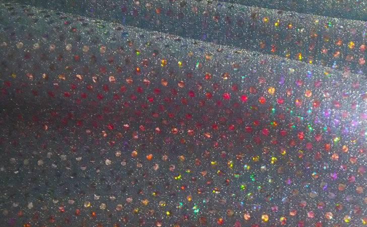 Baby Blue Rainbow Holographic Sequins Fabric Yards Ebay
