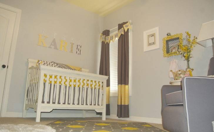 Baby Girl Gray Yellow Nursery Project