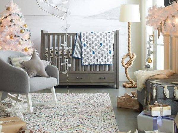 Baby Nursery Unique Carpet Grey Tile Flooring Spacious Room