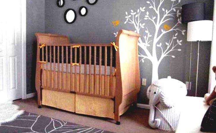 Baby Room Grey Wall Paint Decoration Murals Floor Wooden Laminate