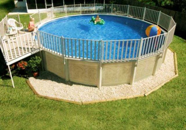 Back Above Ground Pool Landscaping Budget