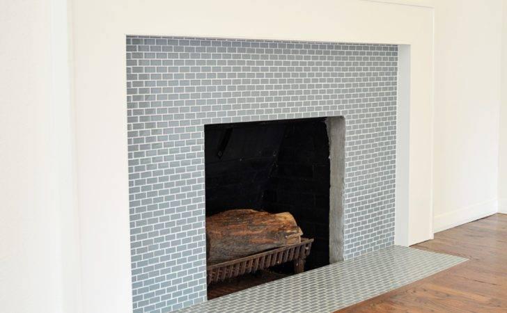 Back Fireplace Glass Tile Ideas