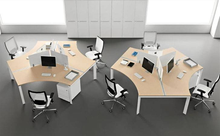 Back Modern Office Furniture Elegant Clean Simple