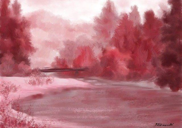 Back Monochromatic Landscape Painting