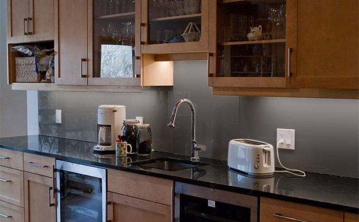 Back Painted Glass Backsplash Kitchen Grout Easy Cleaning