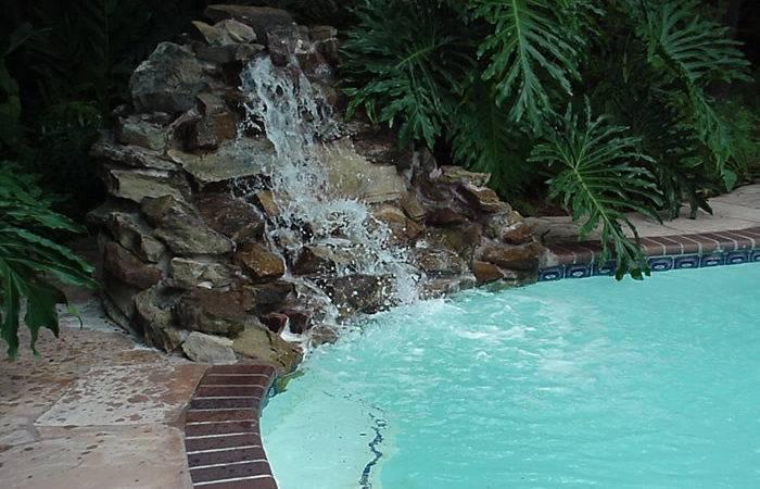 Back Swimming Pools Waterfalls