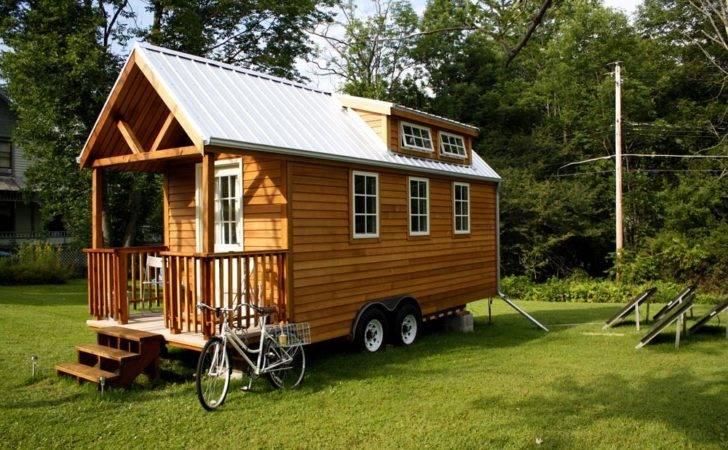 Back Tiny House Wheels Home Andrew Gabriella