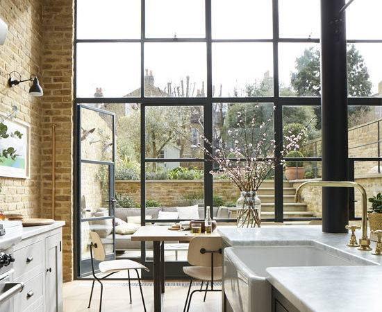 Back Wall Kitchen Has Been Replaced Crittall Windows