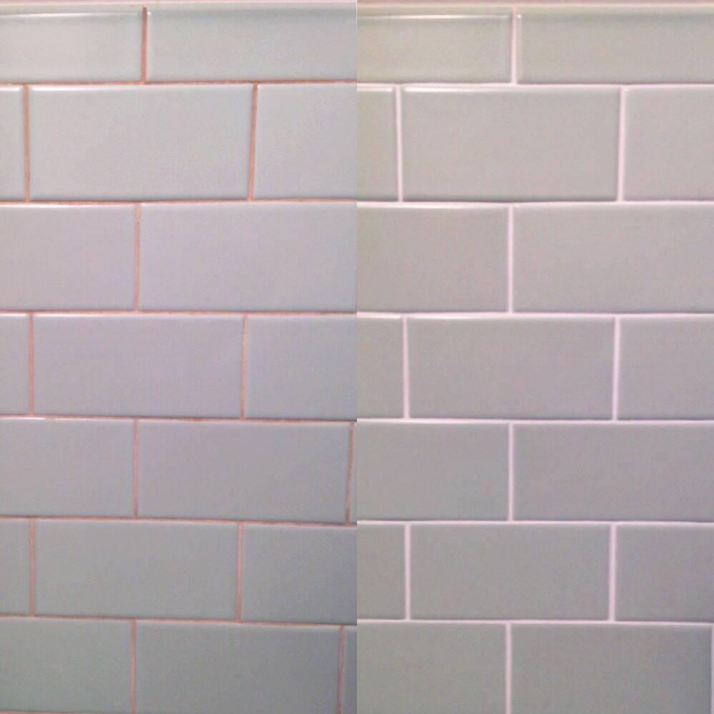 Back White Subway Tile Grout