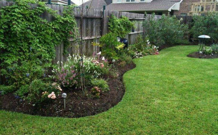 Backyard Fence Line Landscaping Outdoor Furniture Design Ideas