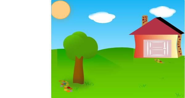 Backyard House Moved Clip Art Clker Vector
