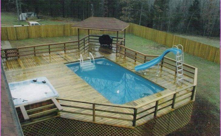 Backyard Ideas Above Ground Pool Yard Lanscaping