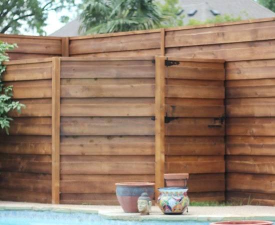 Backyard New Horizontal Fence Sugarplum