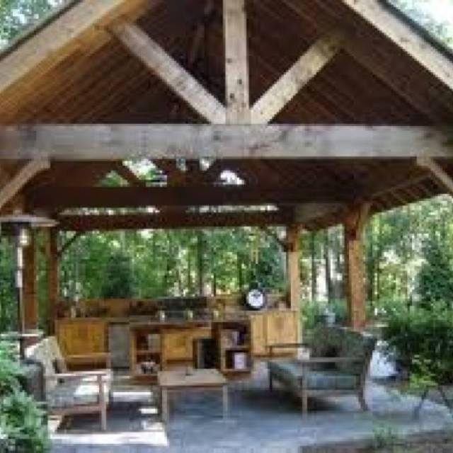 Backyard Pavilion Back Yard Ideas Pinterest