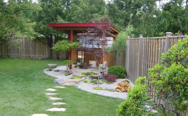 Backyard Pavilion Plans Landscape Asian Garden Fence