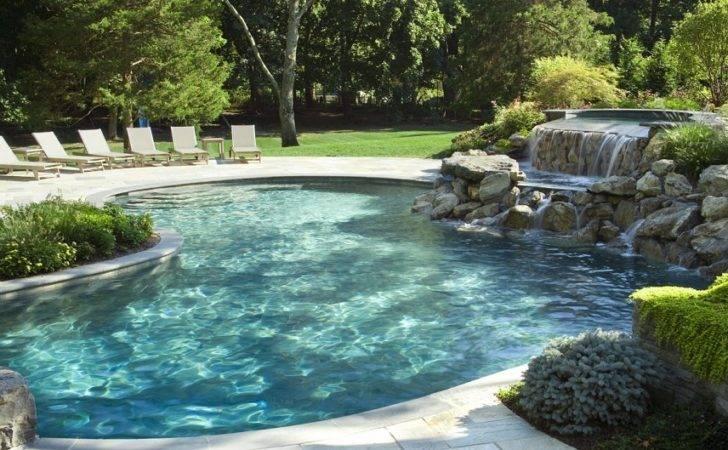 Backyard Pool Landscape Ideas Natural Swimming Pools Designs Idea