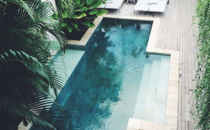 Backyard Pool Landscaping Ideas Wooden Deck Natasha