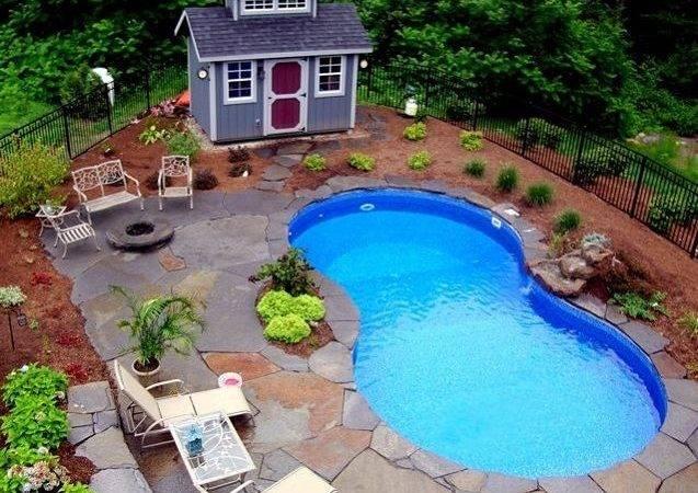 Backyard Pool Landscaping Swimming Pools Ideas