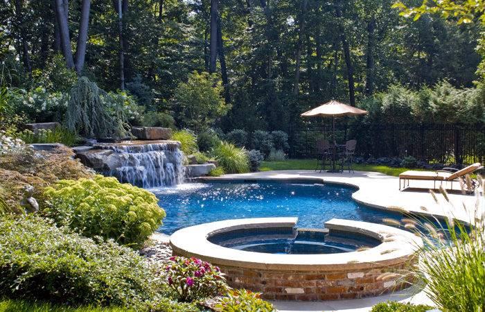 Backyard Swimming Pools Waterfalls Natural Landscaping