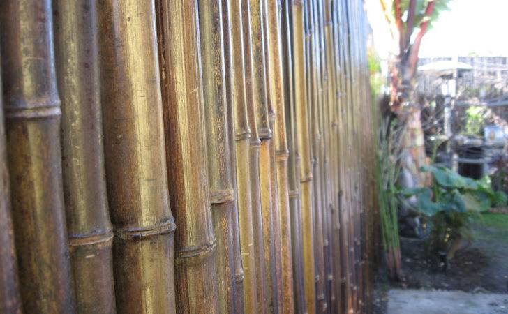 Bamboo Fence Black