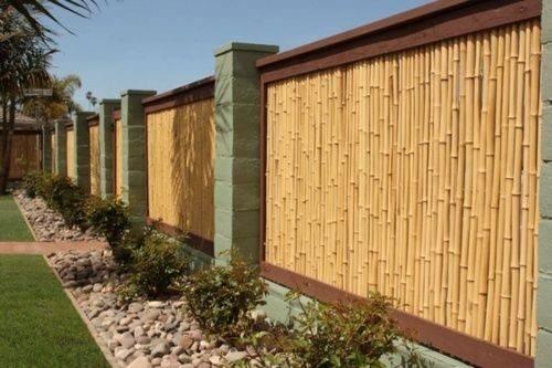 Bamboo Fence Ideas Bambu Pinterest
