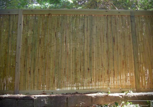 Bamboo Fences Home Fencing Gates Atlanta Fence Workshop
