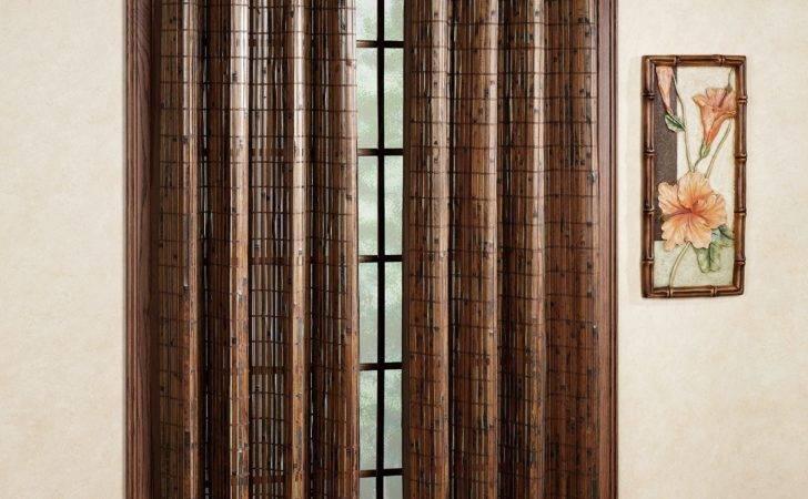Bamboo Grommet Window Panels