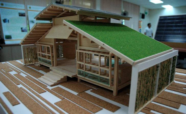 Bamboo House Design Miniature Green