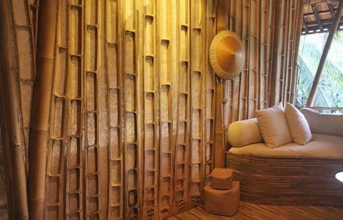 Bamboo Wall Paneling Center Slice Panels