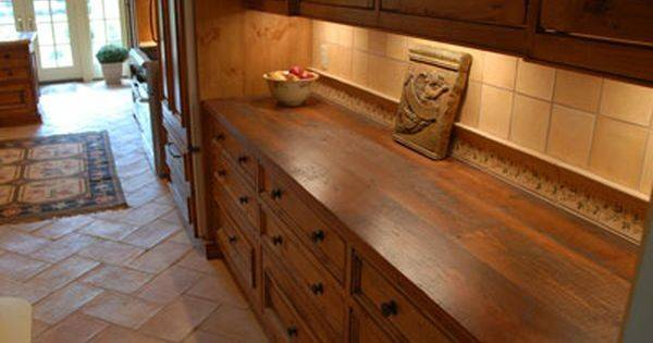 Bar Countertop Ideas Rustic Style Wood Countertops Table Tops