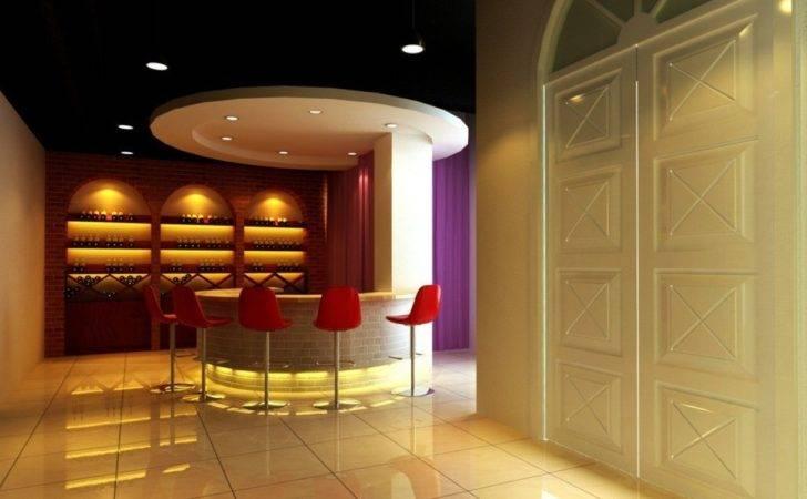 Bar Interior Design Counter Chair Wine Cooler