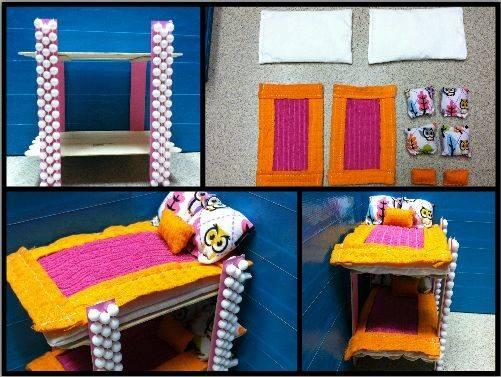 Barbie Furniture Diy Bedroom Pinterest