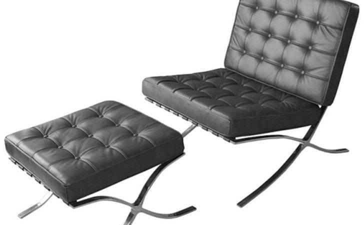Barcelona Leather Chair Footstool Internet Gardener