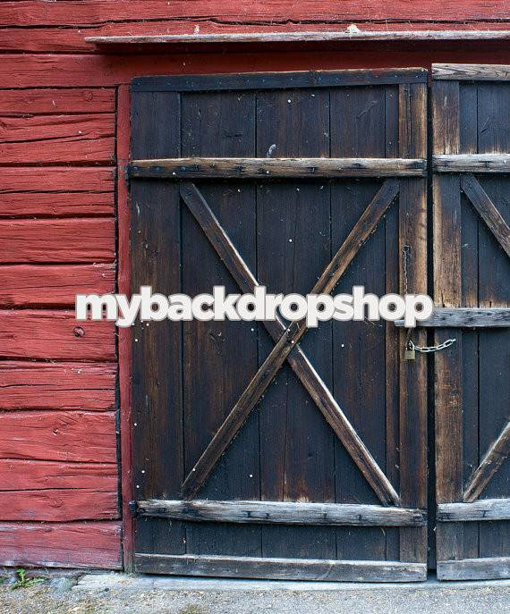 Barn Door Backdrop Photography Red Back