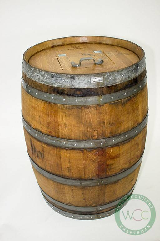 Barrel Receptacle Wine Trash Can Removable Lid
