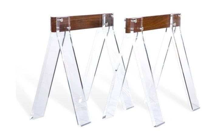 Base Ideas Trestle Desk Plans Table White