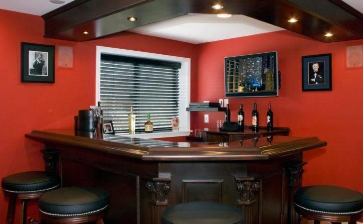 Basement Ideas Red Bar Rend Hgtvcom Jpeg