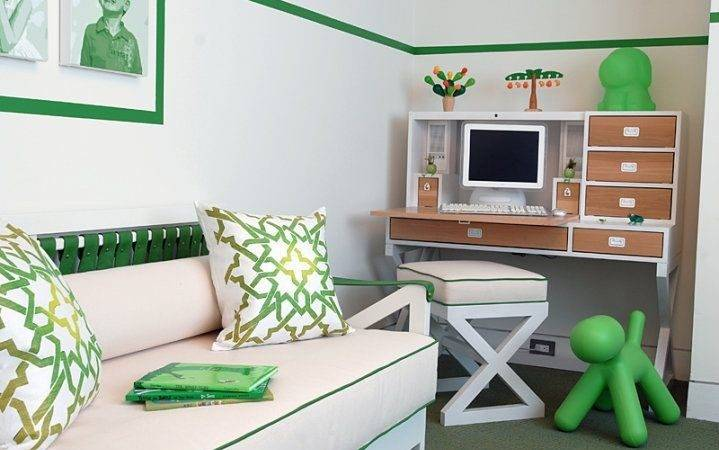 Basement Playroom Campaign Twin Daybed White Green Not Too