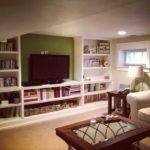 Basement Rec Room Built Shelves More Reno Rooms