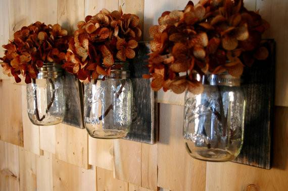 Basic Beautiful Black Wall Decor Collection Clear Jars