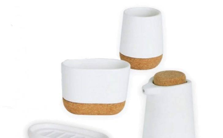 Bath Bathroom Accessories Umbra Kera Collection White Cork