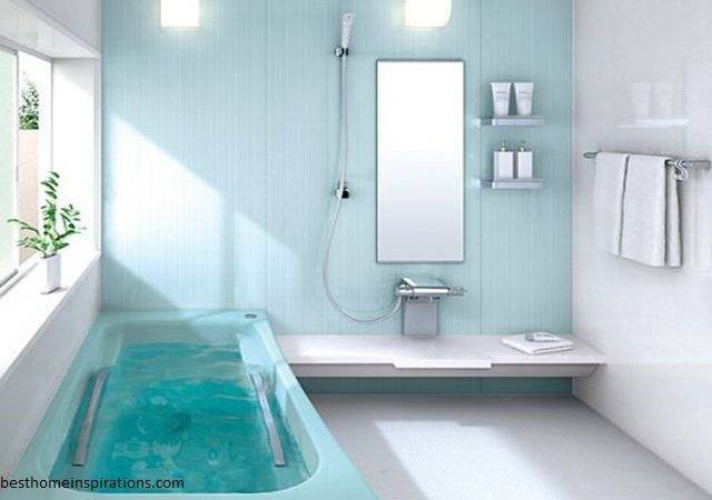 Bathroom Designs Small Spaces Light Blue