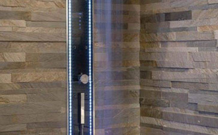 Bathroom Natural Stone Wall Decoration Open Showers Bathrooms