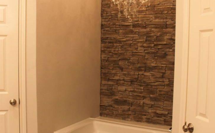 Bathroom Pinterest Faux Stone Walls Wall Accents