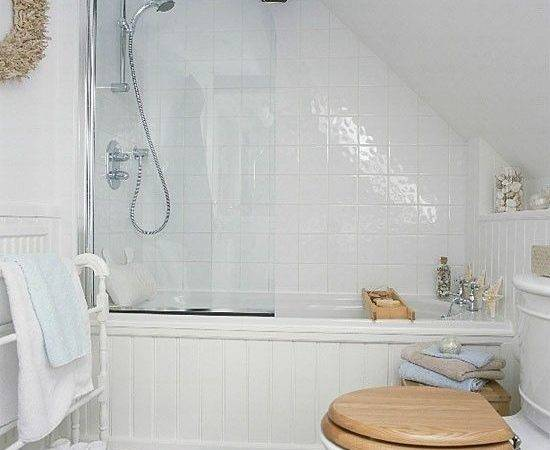 Bathroom Sloped Ceiling Small