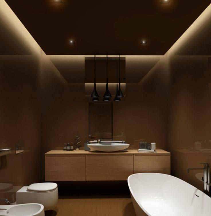 Bathroom Spa Design Lighting Ideas White
